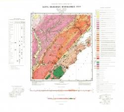 N-48-XXIX. Карта полезных ископаемых СССР. Серия Прибайкальская