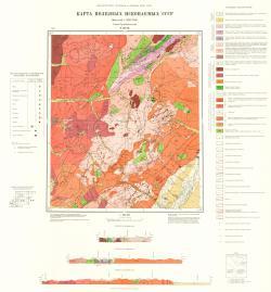 N-49-IX. Карта полезных ископаемых СССР. Серия Прибайкальская.
