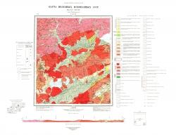 N-49-XI. Карта полезных ископаемых СССР. Серия Прибайкальская
