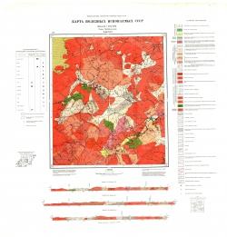 N-49-XVI. Карта полезных ископаемых СССР. Серия Прибайкальская