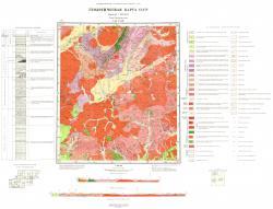N-49-XVIII. Геологическая карта. Серия Прибайкальская. Геологическая карта СССР