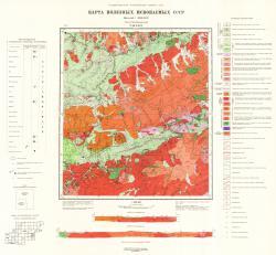 N-49-XXIV. Карта полезных ископаемых СССР. Серия Прибайкальская.
