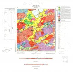 N-49-XXXIV. Карта полезных ископаемых СССР. Серия Западно-Забайкальская