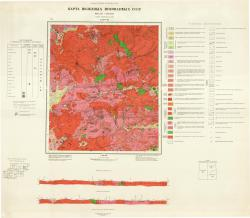 N-50-VII. Карта полезных ископаемых СССР. Прибайкальская серия.