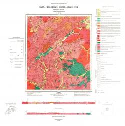 N-50-XII. Карта полезных ископаемых СССР. Серия Олёкмо-Витимская