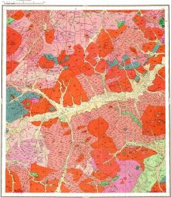 N-50-XVII. Геологическая карта СССР. Серия Олёкмо-Витимская