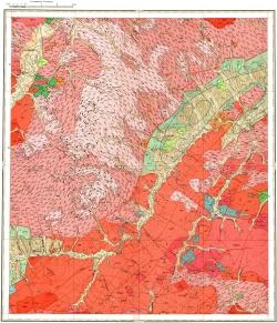 N-50-XVIII. Геологическая карта СССР. Серия Олёкмо-Витимская