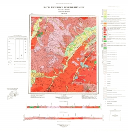 N-50-XVIII. Карта полезных ископаемых СССР. Серия Олёкмо-Витимская