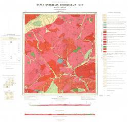 N-50-XXVII. Карта полезных ископаемых СССР. Олекмо-Витимская серия