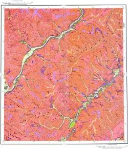 N-50-XXX. Геологическая карта Российской Федерация. Карта четвертичных отложений. Серия Приаргунская