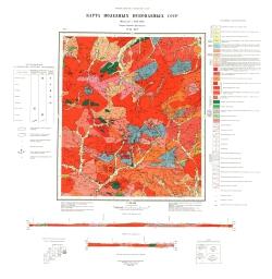 N-51-XIV. Карта полезных ископаемых СССР. Серия Олёкмо-Витимская