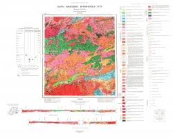 N-51-XIX. Карта полезных ископаемых СССР. Серия Олёкмо-Витимская