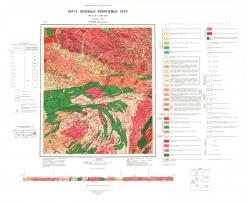 N-52-XII (Верховье р.Луча). Карта полезных ископаемых СССР. Становая серия