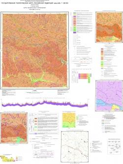 N-52-XIII (Золотая Гора). Государственная геологическая карта Российской Федерации. Издание второе. Становая серия. Карта четвертичных образований