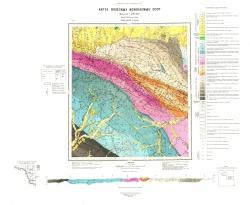 N-52-XXIV (р. Шевли). Карта полезных ископаемых СССР. Амуро-Зейская серия