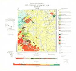 N-52-XXXIII. Карта полезных ископаемых СССР. Серия Амуро-Зейская