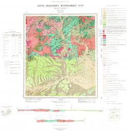 N-53-XIII. Карта полезных ископаемых СССР. Серия Удская.