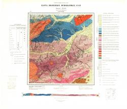 N-53-XXXIV. Карта полезных ископаемых СССР. Серия Хингано-Буреинская