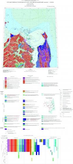 N-54 (Николаевск-на-Амуре). Государственная геологическая карта Российской Федерации. Третье поколение. Дальневосточная серия. Карта четвертичных отложений