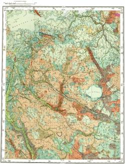 O-35-XI. Карта четвертичных образований СССР. Серия Ильменская