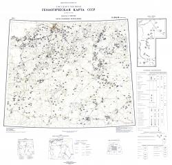 O-(35),36 (Ленинград). Государственная геологическая карта СССР (новая серия). Карта полезных ископаемых