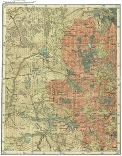 O-36-X. Государственная геологическая карта СССР. Карта четвертичных образований. Серия Тихвинско-Онежская