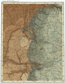 O-36-X. Государственная геологическая карта СССР. Карта дочетвертичных образований. Серия Тихвинско-Онежская