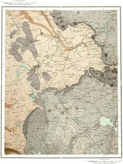 O-36-XVI. Государственная геологическая карта СССР. Карта дочетвертичных образований и полезных ископаемых. Серия Тихвинско-Онежская
