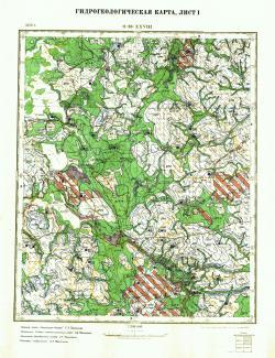 O-36-XXVIII. Гидрогеологическая карта. Лист 1