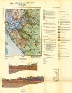 O-37-IX. Гидрогеологическая карта СССР. Серия Тихвинско-Онежская