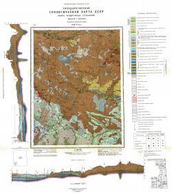 O-37-V. Государственная геологическая карта СССР. Карта четвертичных отложений. Тихвинско-Онежская серия