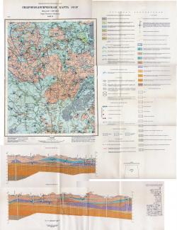 O-37-X. Гидрогеологическая карта СССР. Серия Тихвинско-Онежская