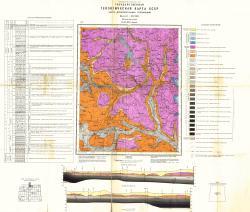 O-37-XIX (Бежецк). Государственная геологическая карта СССР. Карта дочетвертичных отложений. Московская серия
