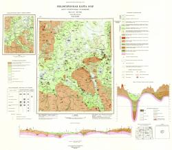 O-37-XXIII. Геологическая карта СССР. Карта четвертичных отложений. Серия Московская