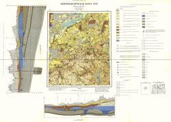 O-37-XXXI. Гидрогеологическая карта СССР. Серия Московская