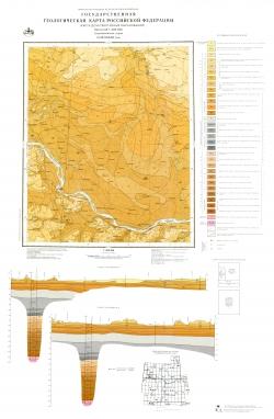 O-38-XXXIII (Бор). Государственная геологическая карта Российской Федерации. Карта дочетвертичных образований. Средневолжская серия