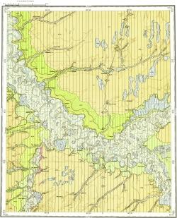 O-45-XXVII. Карта четвертичных отложений СССР. Кетская серия