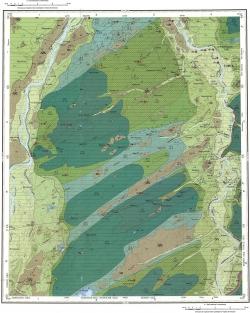 O-45-XXXI. Геологическая карта Российской Федерации. Карта четвертичных отложений. Кузбасская серия