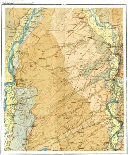 O-45-XXXI. Геологическая карта СССР. Кузбасская серия