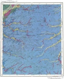 O-45-XXXII. Геологическая карта Российской Федерации. Издание второе. Карта четвертичных образований. Кузбасской серии