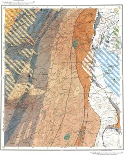 O-45-XXXII. Геологическая карта Российской Федерации. Издание второе. Карта полезных ископаемых. Кузбасской серии