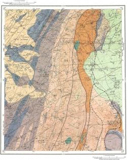 O-45-XXXII. Геологическая карта Российской Федерации. Издание второе. Кузбасской серии