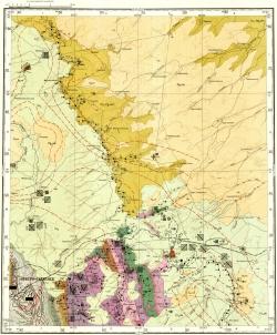 O-45-XXXIII. Геологическая карта СССР. Карта полезных ископаемых. Кузбасская серия