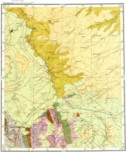 O-45-XXXIII. Геологическая карта СССР. Кузбасская серия