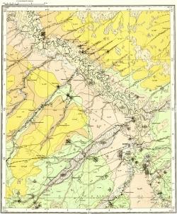 O-45-XXXIV. Геологическая карта СССР. Карта полезных ископаемых. Кузбасская серия