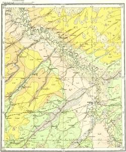 O-45-XXXIV. Геологическая карта СССР. Кузбасская серия