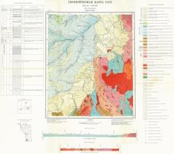 O-46-XXXIV. Геологическая карта СССР. Серия Енисейская