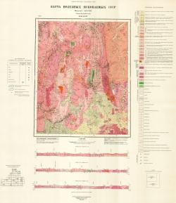 O-50-XXIV. Карта полезных ископаемых СССР. Серия Бодайбинская