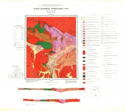 O-50-XXV. Карта полезных ископаемых СССР. Серия Бодайбинская