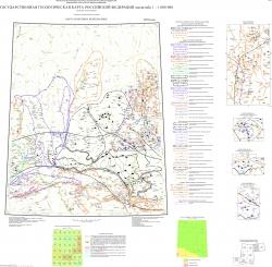 O-51 (Алдан) Государственная геологическая карта Российской Федерации. Третье поколение. Алдано-Забайкальская серия. Карта полезных ископаемых